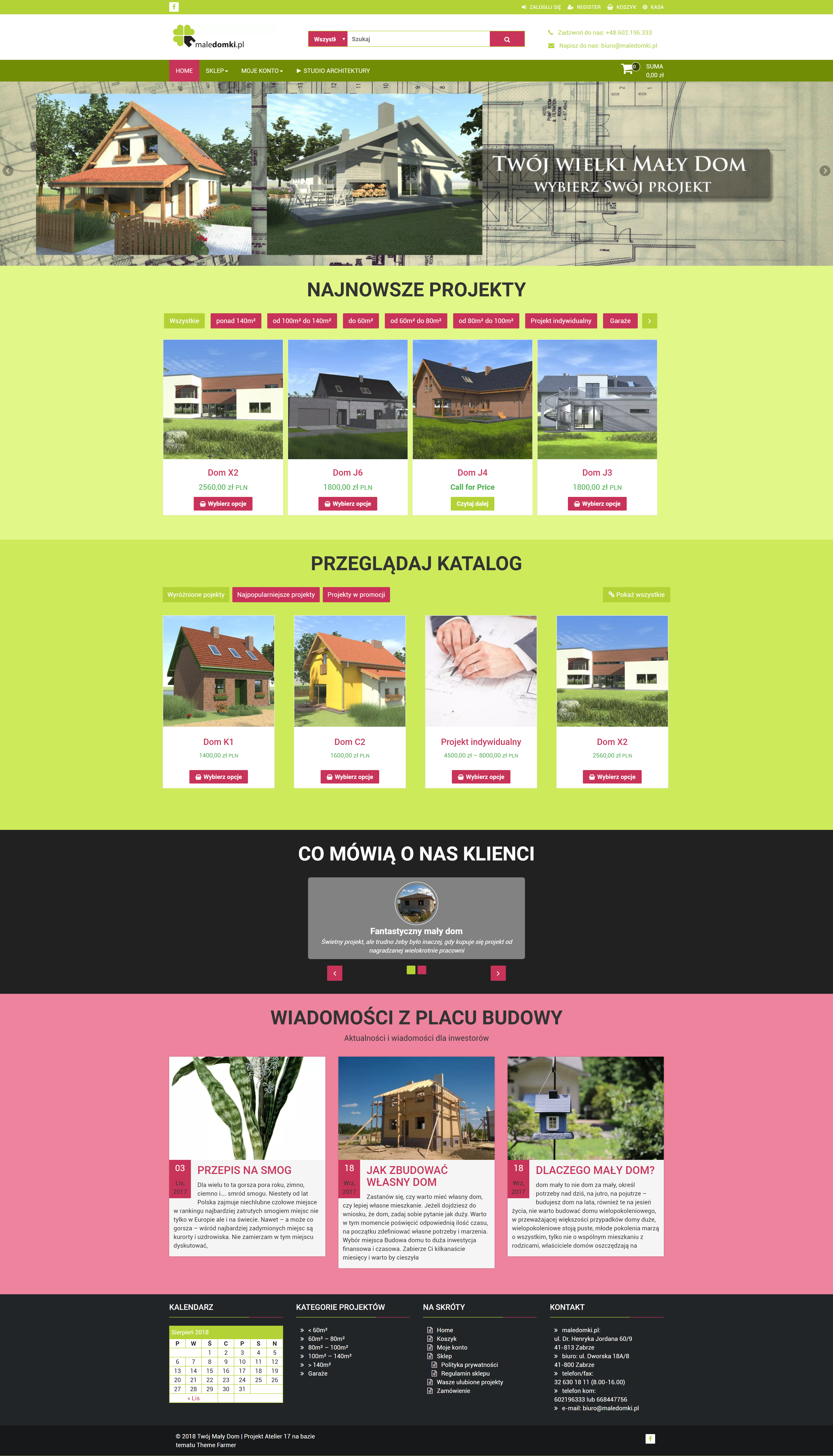 Website for Maledomki.pl (including on-line store)