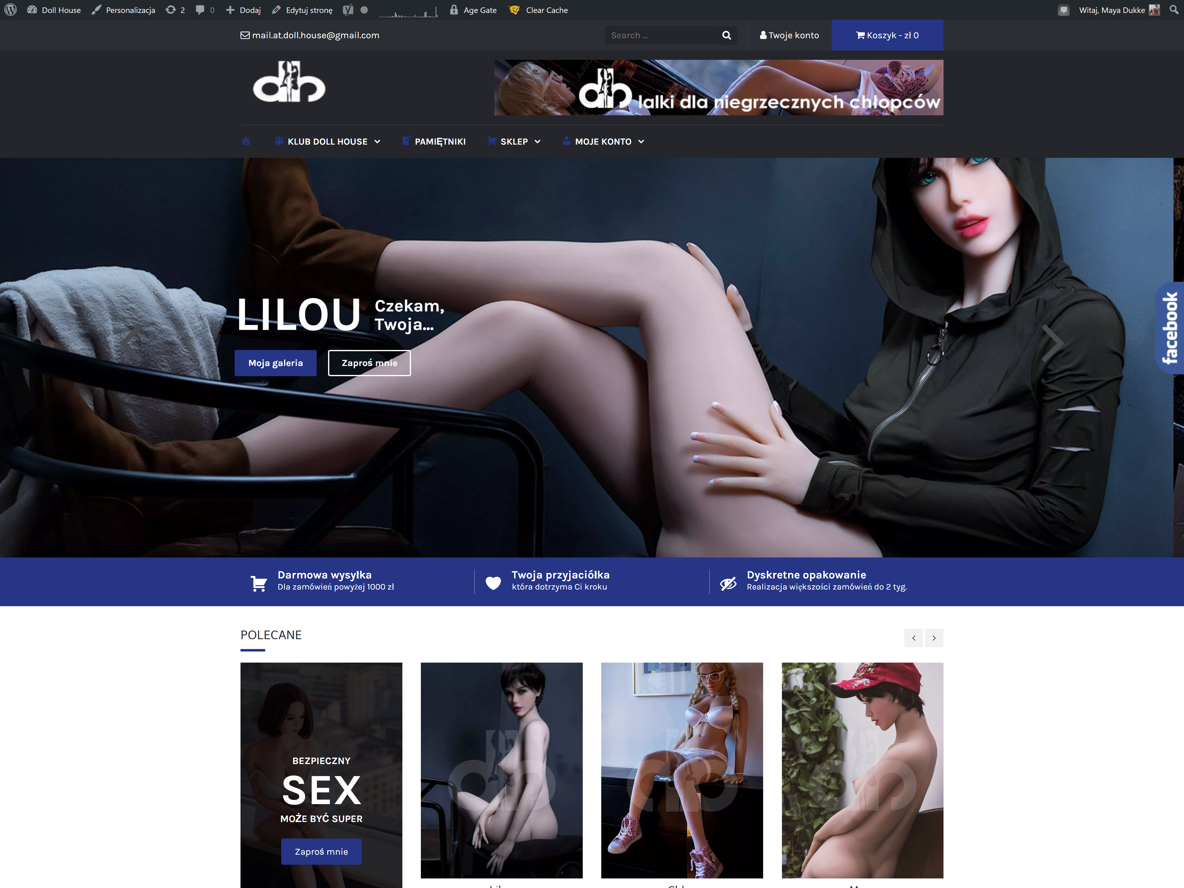 Doll House – website and e-commerce